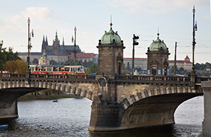 Tramway Bridge over the Vltava River